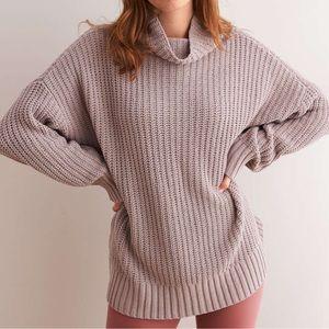 0816ccffa38 aerie Sweaters | Oversized Chenille Turtleneck Pebble | Poshmark